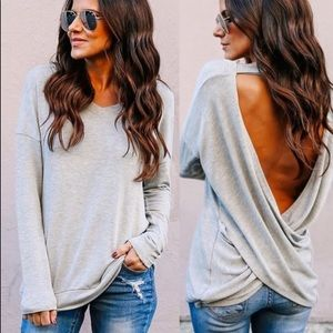Long sleeve shirt with knot in the back *NWT*